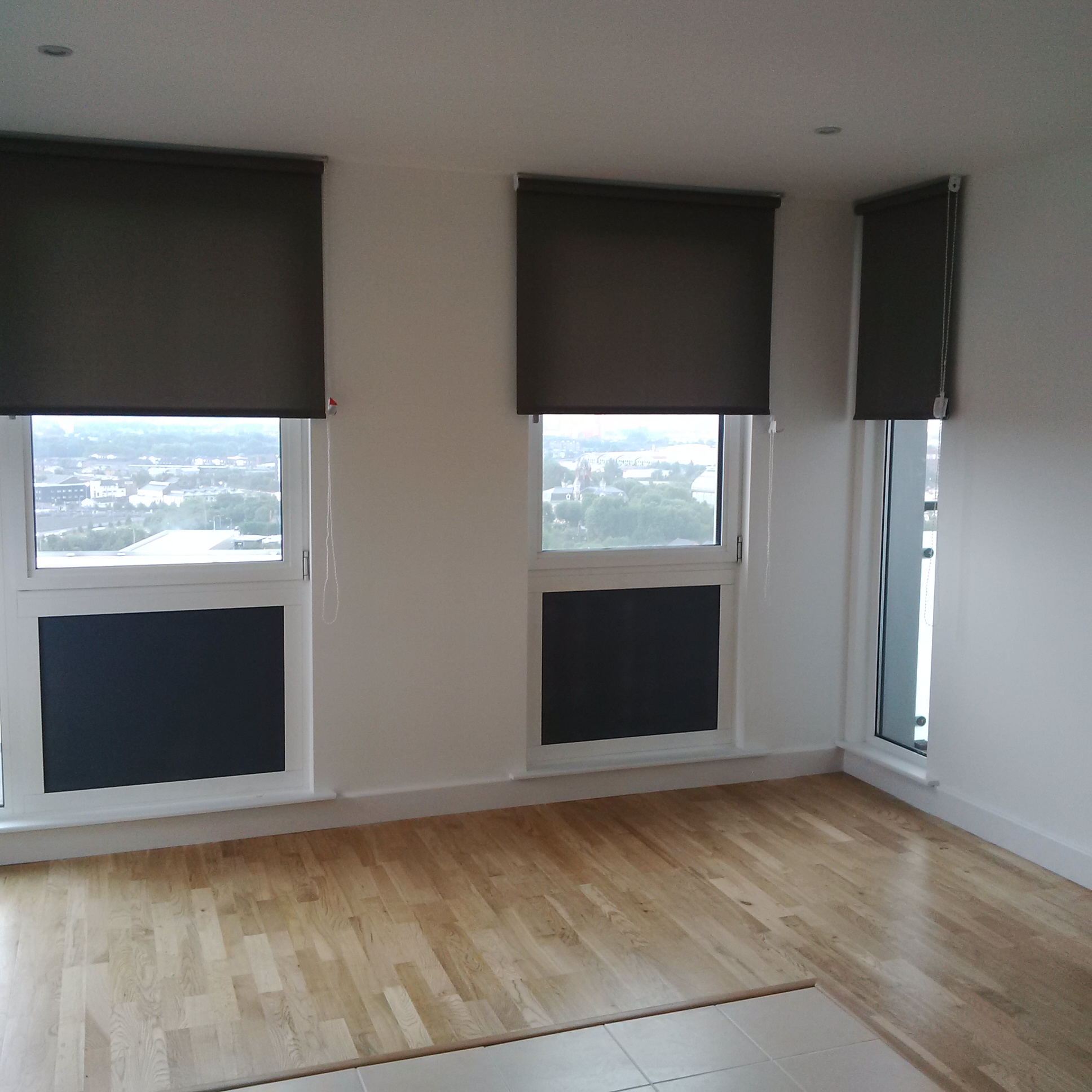 Blinds Warehouse Contract Curtains And Blind Supplied For Large Apartment