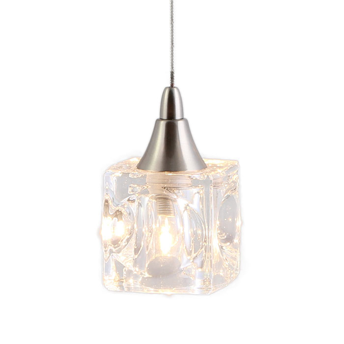Mini Pendant Lights With Seeded Glass Mini Cube Shaped Pendant Lighting Dpnl-35-6-clear Direct
