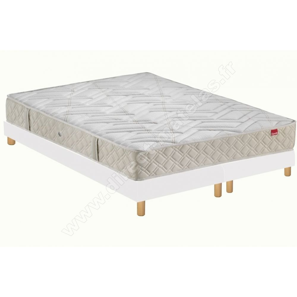 Matelas Sommier Epeda Pack 200x200 Matelas Epeda Irise 2 Sommiers D M Solux Tapissier Lattes Pieds De Lit Cylindriques