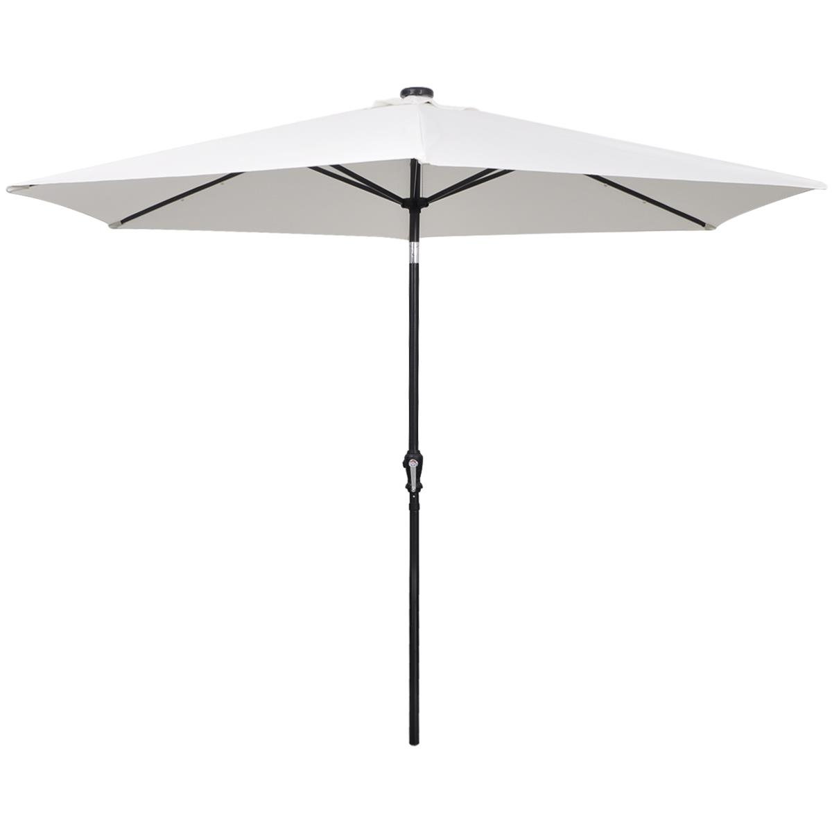 Eclairage Led Parasol Parasol Lumineux à Led Solaires Inclinable 300 Cm