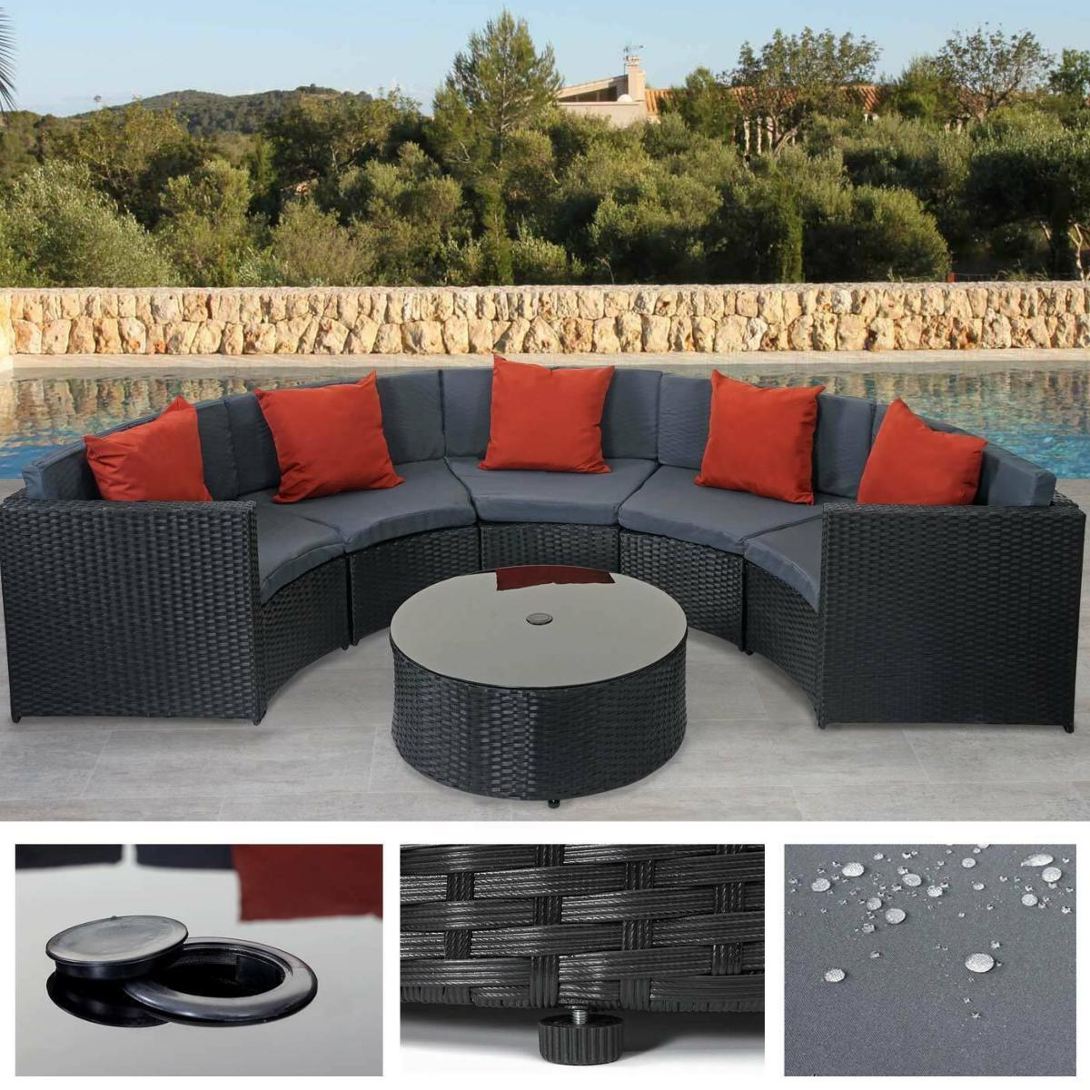 Salon De Jardin Design Rouge
