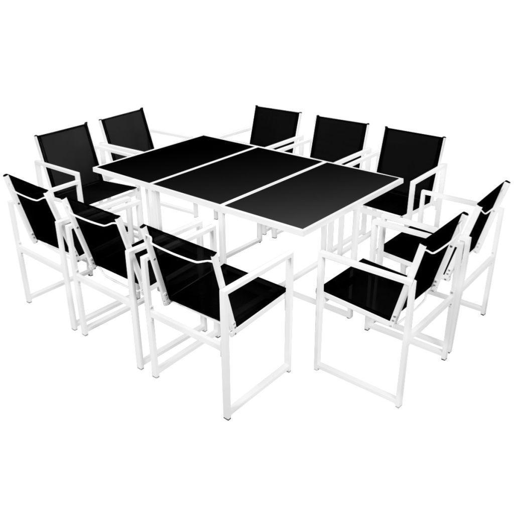 Salon Jardin Aluminium Blanc | Latest Chaises En Aluminium Salon De ...
