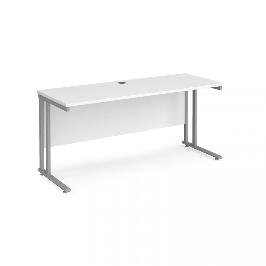 White Office Desk Narrow White Office Desk 600mm Deep 1800mm Wide