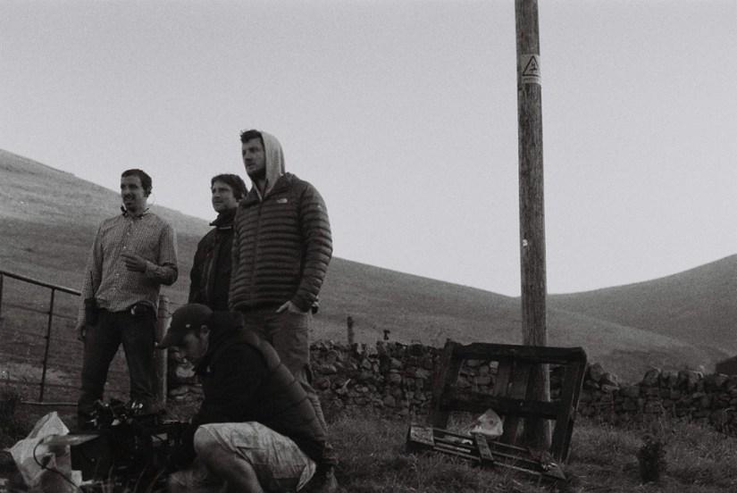 William and camera team on set