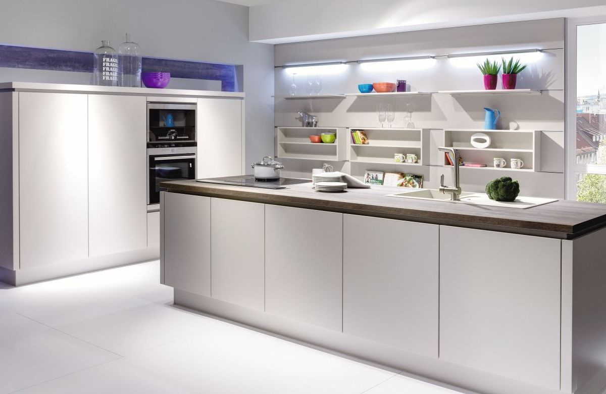 Nobilia Laser Sand Handleless Dirragh Kitchens And Interiors