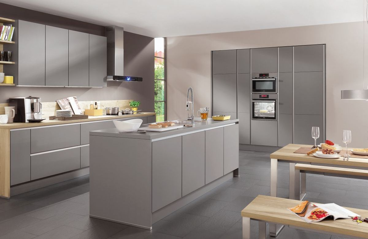 Nobilia Laser Grau Modern Dirragh Kitchens And Interiors