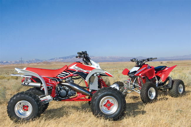 Shootout 1989 TRX250R vs 2009 TRX450R Dirt Wheels Magazine