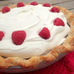 Raspberry Cream Pie from dirtydishclub.com