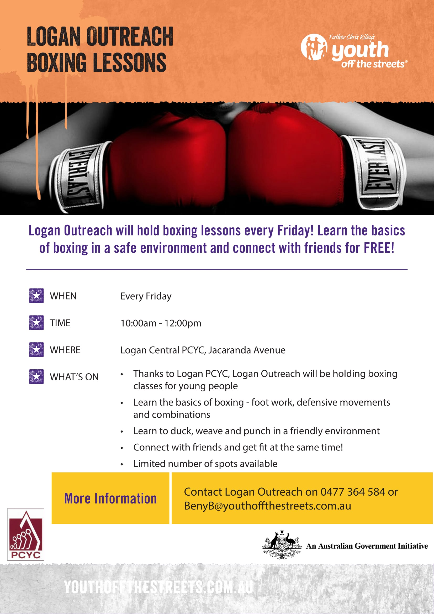 Boxing Brisbane City Logan Outreach Boxing Lessons Disability Support