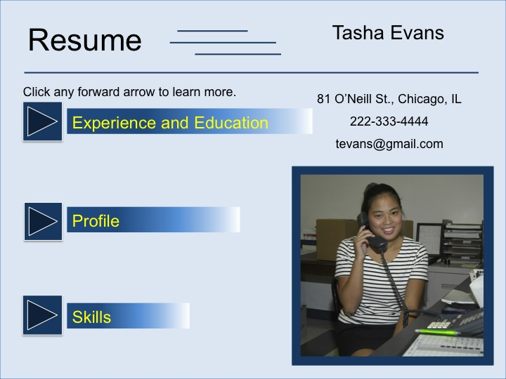 Visual Resume Template Blue Click \u2013 TRN Online Disability Training - visual resume templates