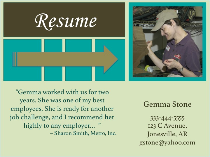 Visual Resume Template Green \u2013 TRN Online Disability Training