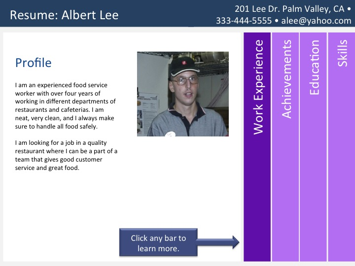 Visual Resume Template Accordion \u2013 TRN Online Disability Training