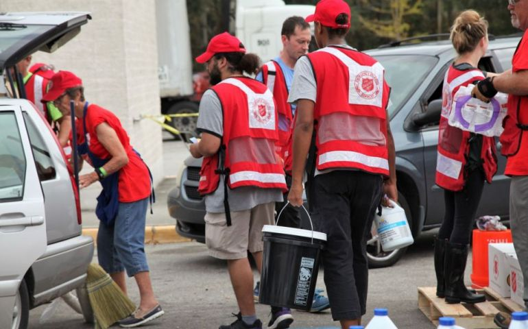Salvation Army Providing Much Needed Supplies To Aid