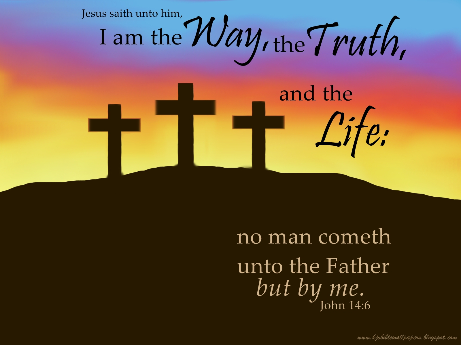 Free Desktop Wallpaper Scripture Fall Do You Know The Way The Truth And The Life