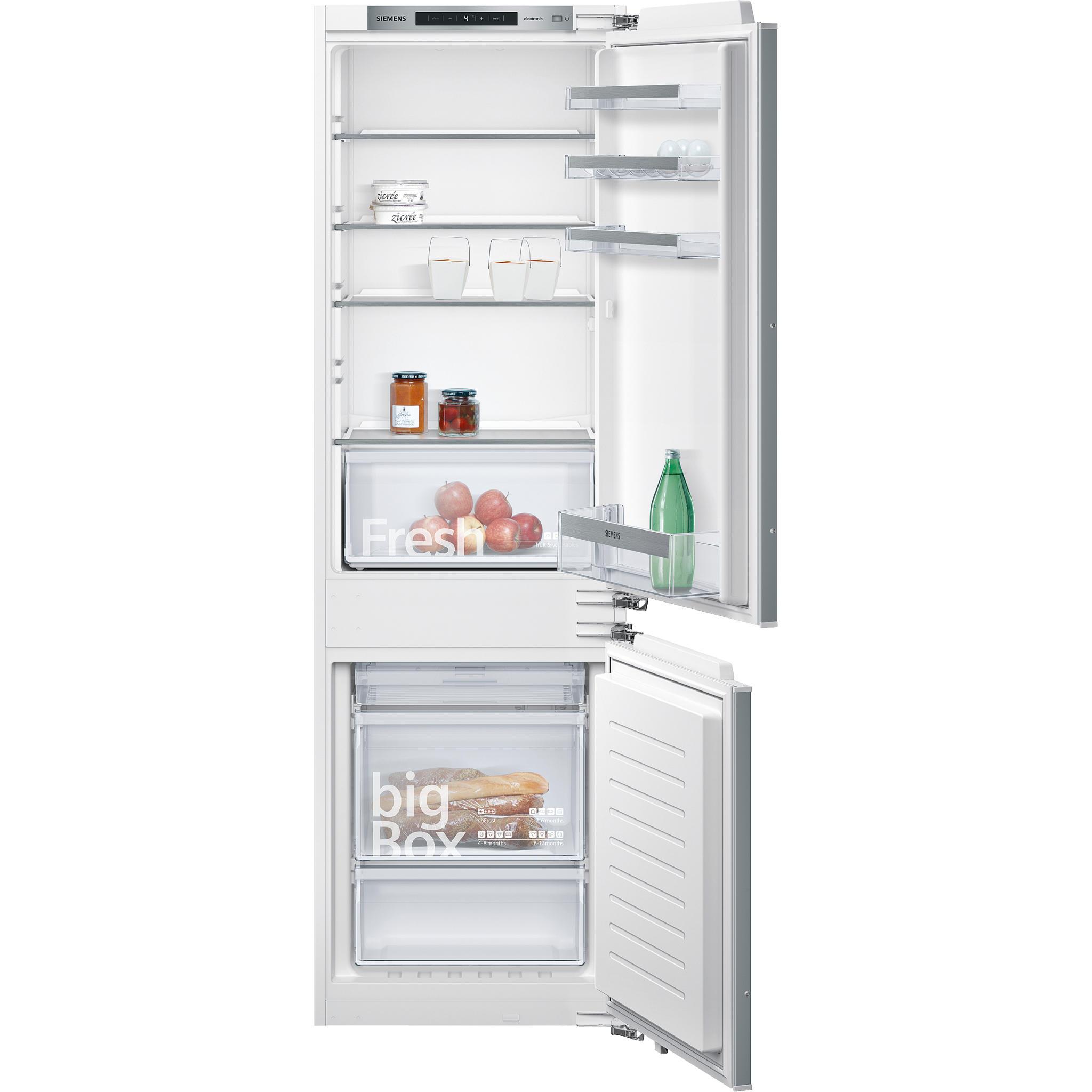 No Frost Siemens Ki86nvf30g Iq300 Integrated Nofrost Fridge Freezer