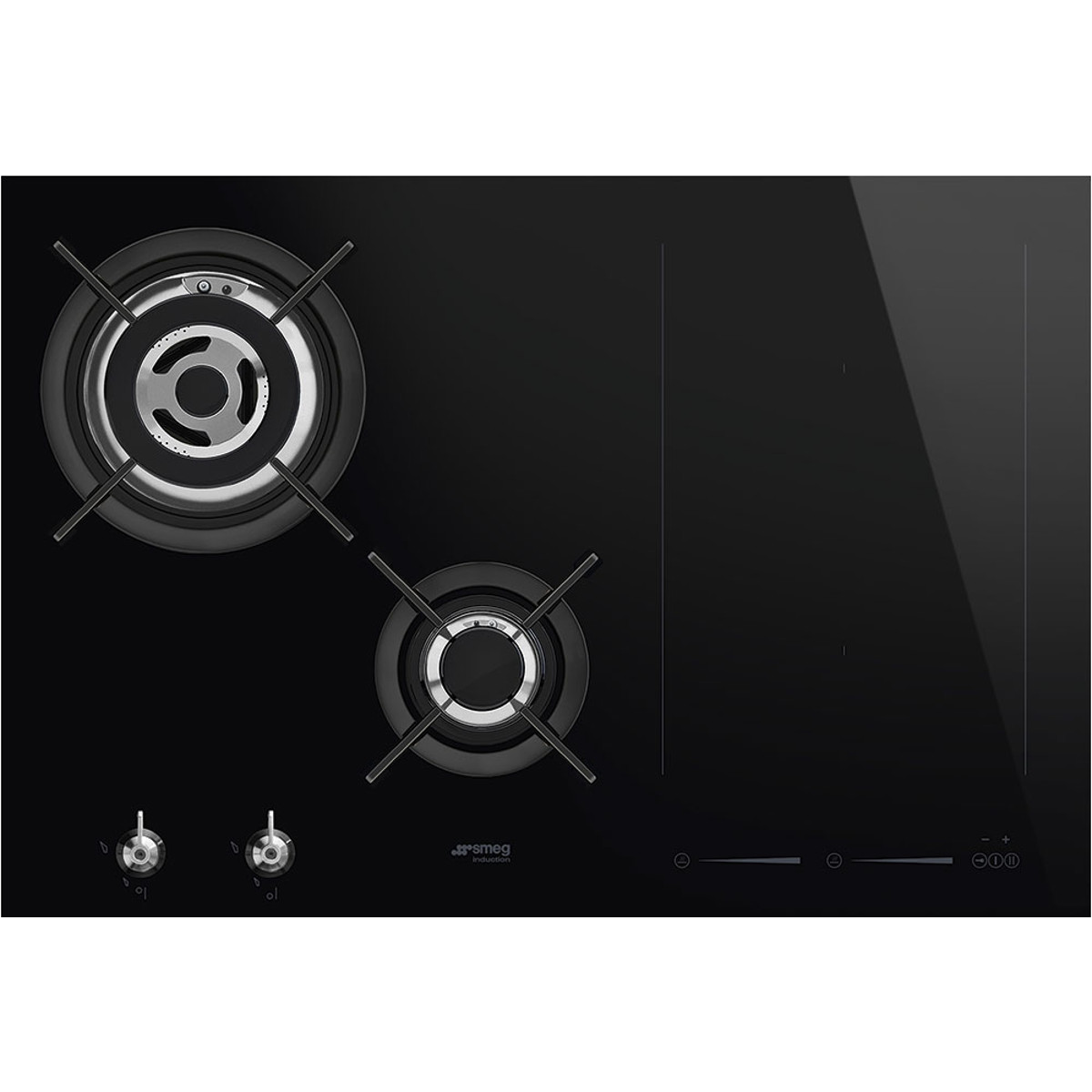 Plaque Induction Multi Zone Smeg Pm3721wld New Classic Aesthetic 75cm Mixed Fuel Hob