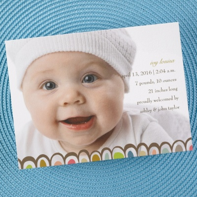 Discount Birth Announcements - Custom Printed Baby Announcements