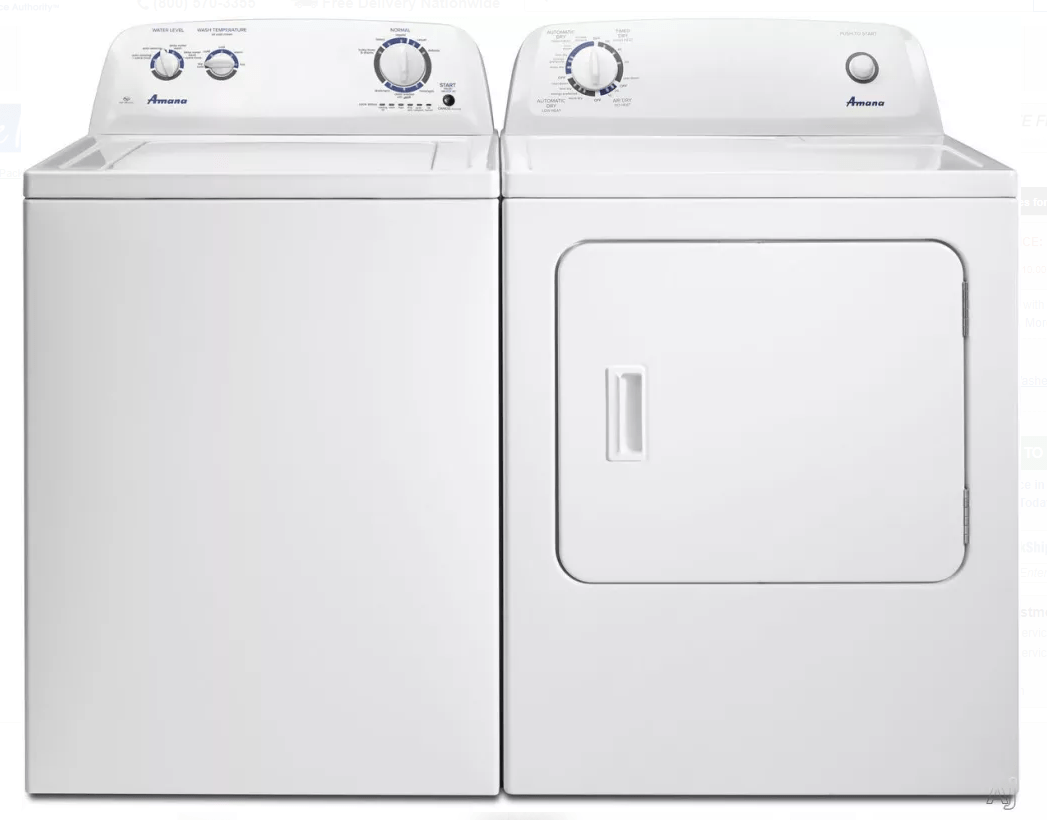 New Washer And Dryer Amana 3 5 Cu Ft Top Load Washer Dryer In White Color Brand New In The Box With One Year Warranty