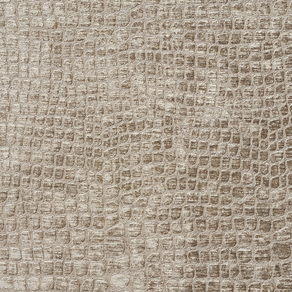 Platinum Textured Alligator Shiny Woven Velvet Upholstery Fabric By The Yard