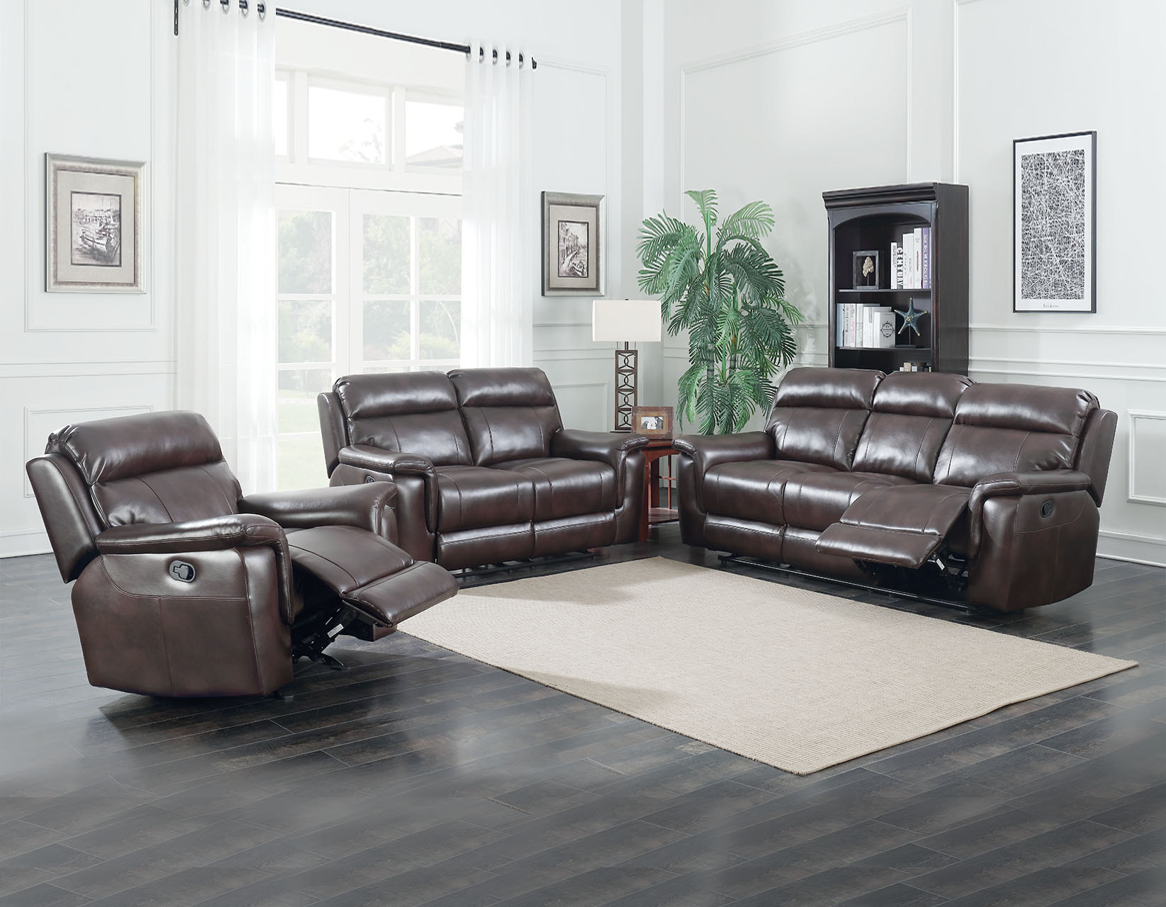 Brown Sofa And Loveseat Sets Dakota Brown Reclining Sofa And Loveseat Set