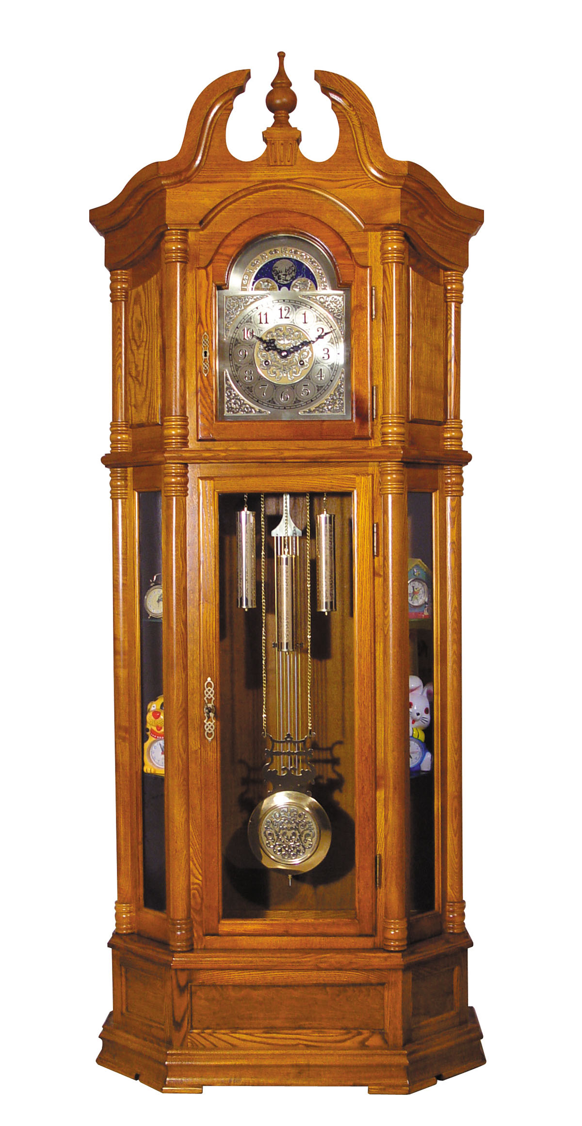Affordable Cuckoo Clocks Acme Rissa Grandfather Clock In Oak 01410