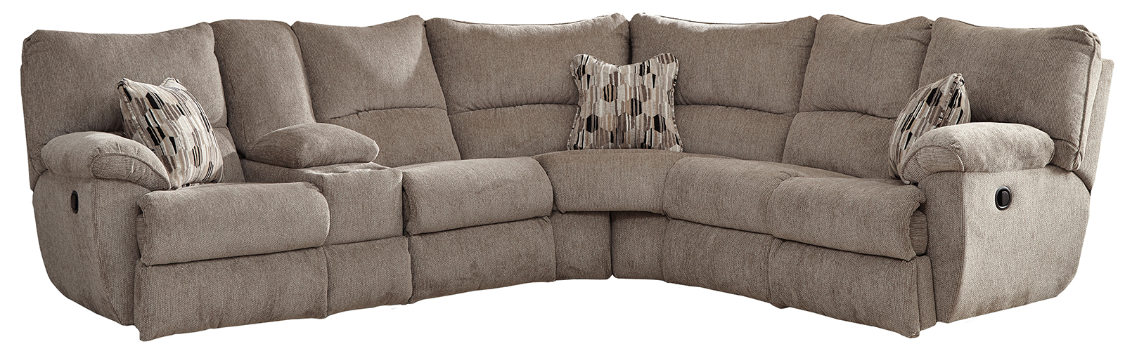 Catnapper Elliott 2pc Lay Flat Reclining Sectional In Pewter
