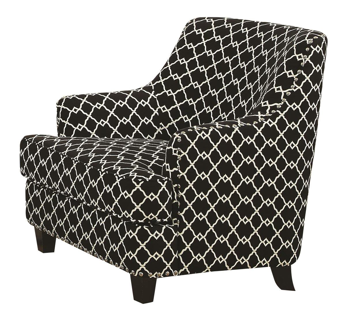 Black And White Accent Chair Coaster Layton Accent Chair In Black White 902543