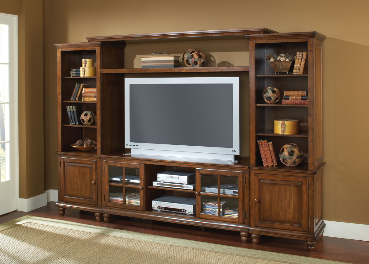 Pine Entertainment Unit Hillsdale Grand Bay Large Entertainment Unit In Distressed