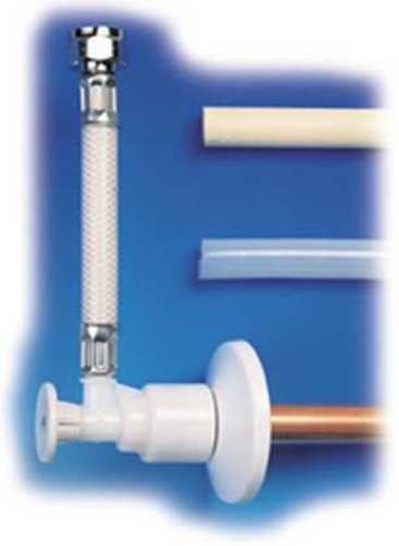 "Mobile Home Skirting Bath > Faucet And Toilet Repair Parts - Flowtite Shut-off Valve For 5/8"" O.d. Tubing X 1/2 Fmt X"