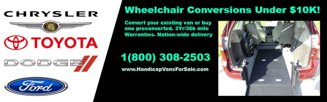 wheelchair van rentals 2 Weeks for $1000