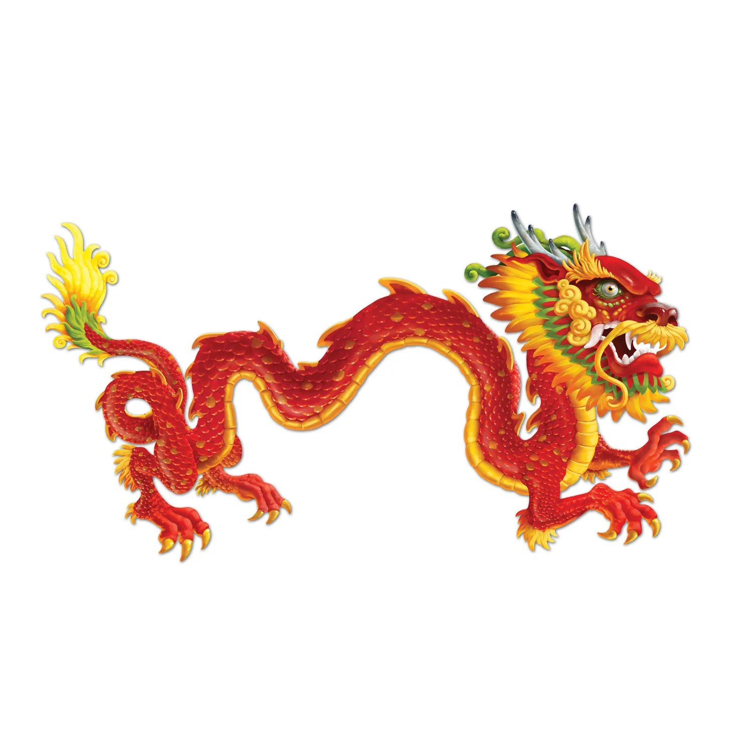 Chinese Dragon Decor Chinese Dragon Asian Party Decoration Jointed Cardboard