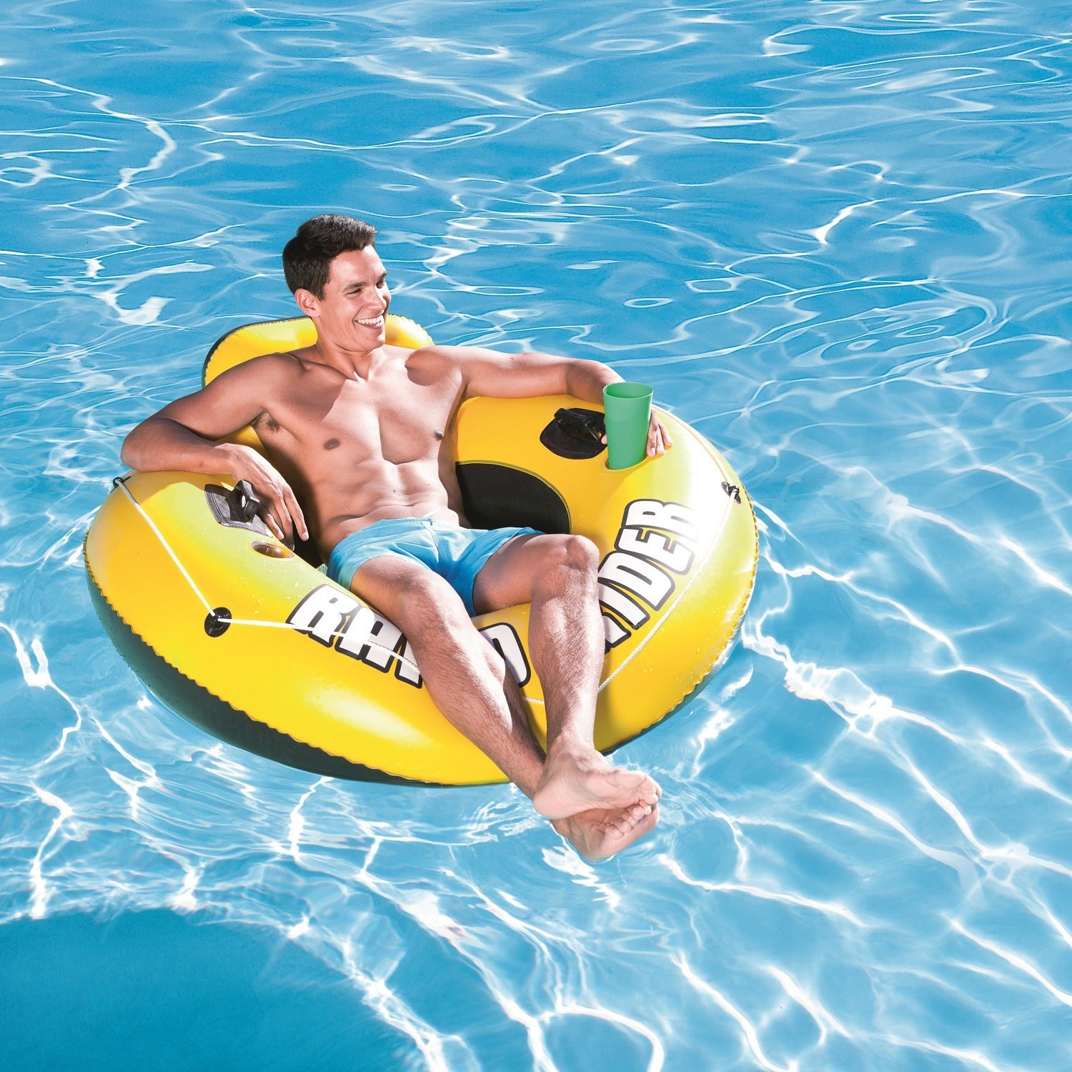 Flotadores Para Piscinas Rollback Bestway Rapid Rider 53 Inflatable Tube Now 9