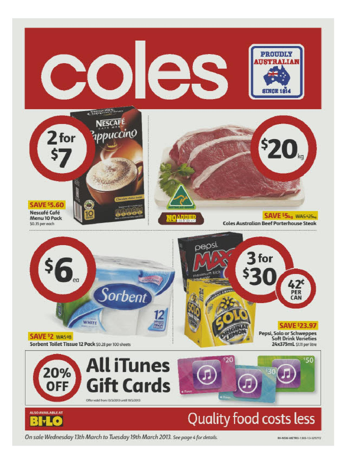 Australian Online Catalogues Coles Online Catalogue 13 March 2013