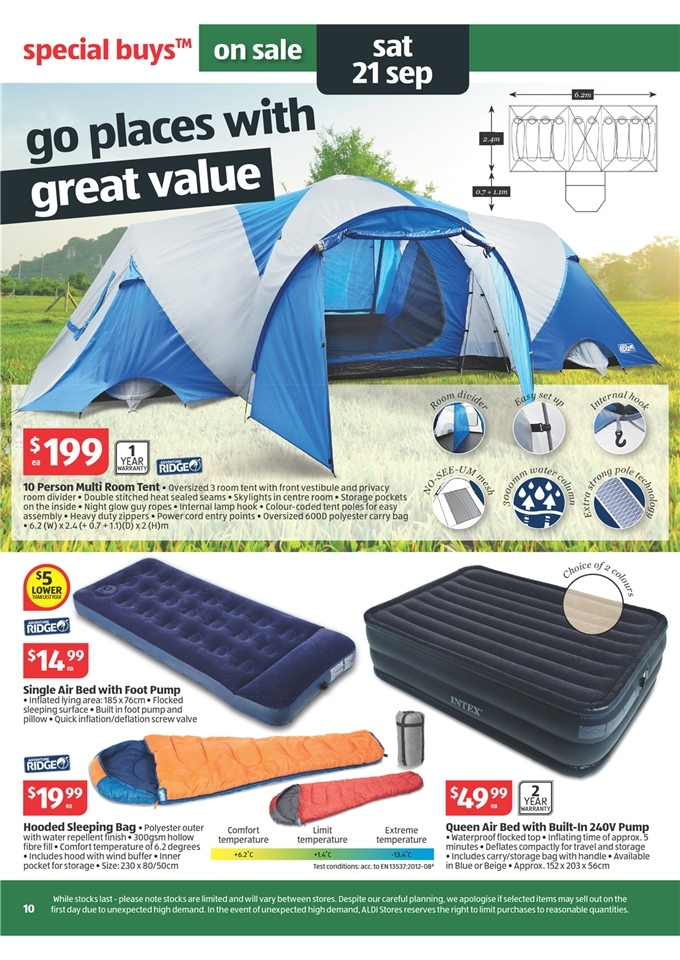 Aldi Tent Aldi Catalogue - Special Buys Week 38 2013 Page 10