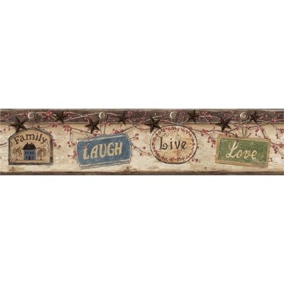 CTR63151B - Live Love Laugh Border - Discount Wallcovering