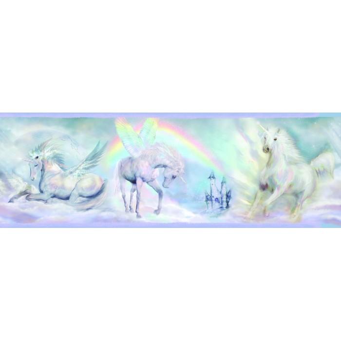 College Girl Wallpaper Bbc46442b Unicorn Dreams Border Discount Wallcovering