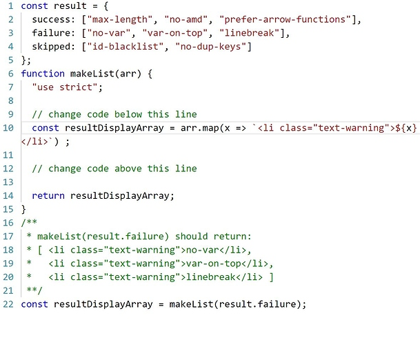 Creating Strings using Template Literals - JavaScript - The
