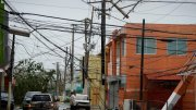 Power lines are down after the impact of Hurricane Maria, which hit the eastern region of the island in Humacao, Puerto Rico, Wednesday, Sept. 20, 2017. (AP)