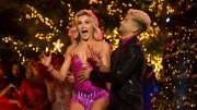 """In this photo provided by ABC, Jordan Fisher (right) and Lindsay Arnold react after being named the champions of """"Dancing with the Stars"""" on Nov. 21, 2017, in Los Angeles. (AP)"""