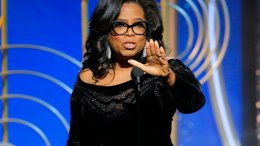 This image released by NBC shows Oprah Winfrey accepting the Cecil B. DeMille Award at the 75th Annual Golden Globe Awards in Beverly Hills, Calif., on Sunday, Jan. 7, 2018. (AP)