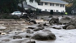 In this photo provided by Santa Barbara County Fire Department, mud and debris flow due to heavy rain in Montecito, Calif., Tuesday, Jan. 9, 2018. (AP)