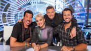 This image released by ABC shows, from left, Lionel Richie, Katy Perry, Ryan Seacrest and Luke Bryan in New York. (AP)