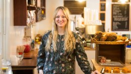 Claire Ptak, owner of Violet Bakery in Hackney, east London, has been chosen to make the cake for the wedding in May of Prince Harry and Meghan Markle. (AP)