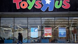 This Jan. 24, 2018, file photo shows a person walking near the entrance to a Toys R Us store, in Wayne, N.J. (AP)