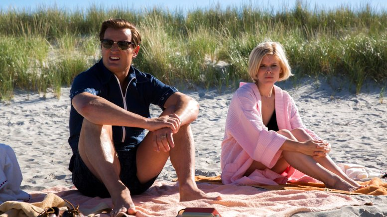 "This image released by Entertainment Studios shows Jason Clarke as Ted Kennedy (left) and Kate Mara as Mary Jo Kopechne in a scene from ""Chappaquiddick."" (AP)"