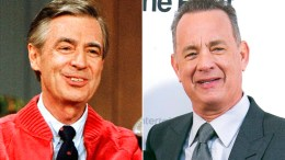 Fred Rogers and Tom Hanks