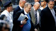 Harvey Weinstein arrives at the first precinct while turning himself to authorities following allegations of sexual misconduct, Friday, May 25, 2018, in New York. (AP)