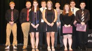 Top seniors in the Clarion County Career Center Class of 2018 were, front, Becca Smith, Autumn Rapp, Madison Greenawalt, Steven Snyder, back, Corey Best, Keaton Minich, Devin Shaffer, Vincent Gazzo and Joshua Gagne. (Submitted photo)
