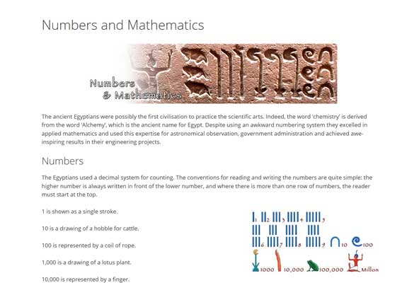 Egyptian Mathematics Numbers Hieroglyphs - Numbers In Writing