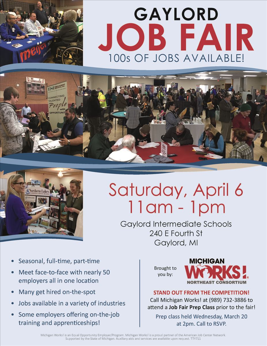 Jobs Работа Job Seeker Workshops Job Fairs Discover Northeast Michigan